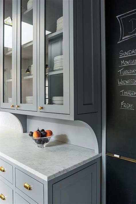Grey Kitchen Pantry Kitchen With Chalkboard On Slate Pantry Door Contemporary