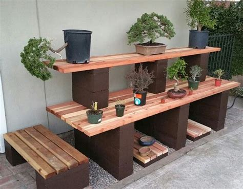 bonsai bench picture 4 now my bonsai display bench is finished my