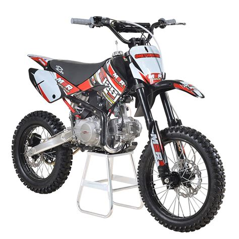 red dirt bike m2r racing km125mx 125cc petrol 17 14 86cm red dirt bike