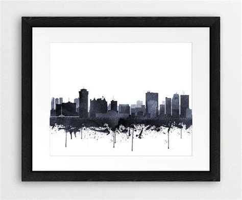 watercolor tattoo winnipeg winnipeg watercolor print winnipeg wall canada