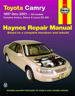 car owners manuals free downloads 1997 toyota camry engine control 1997 2001 toyota camry solara avalon lexus es300 haynes manual