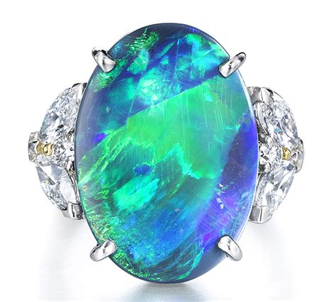 turquoise opal 100 turquoise opal cyberpunk ring turquoise opal by