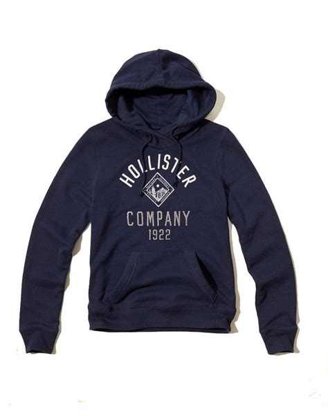 Hollister Logo Graphic Large hollister womens shine logo graphic hoodie navy hollister logos products and