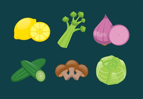 vector vegetables illustration set   vector