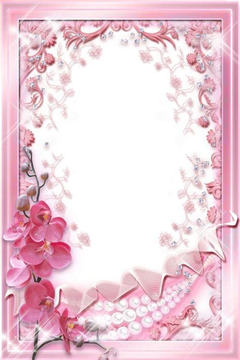 Pinkglam Auction Template 2 by Photo Frame Template Pink Orchids Free Flower