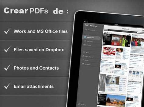 convertir imagenes a pdf en ipad aplicaci 243 n para convertir documentos y archivos a pdf en ipad