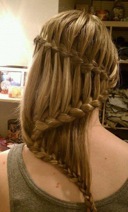 braided hairstyles layered hair beautiful cascade waterfall braid hairstyles gallery