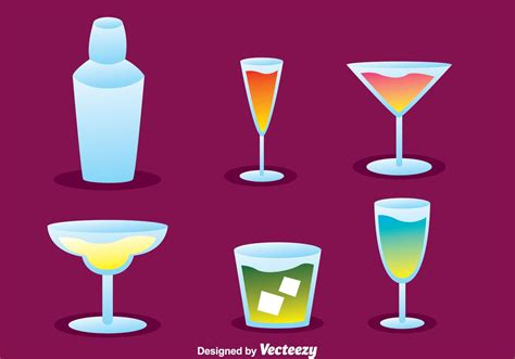 cocktail icon vector vector cocktail icons free vector stock