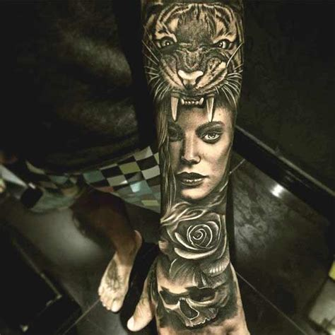 tiger tattoo for girl 90 coolest forearm tattoos designs for and you