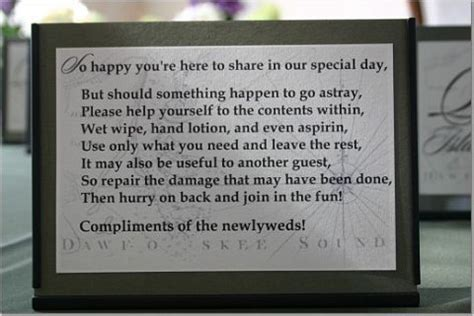 wedding bathroom basket poem wedding bathroom basket sayings wedding forums gt wedding
