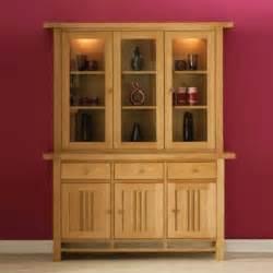 morris furniture artisan solid oak glazed display