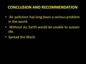 Air Pollution Essay Conclusion by Air Pollution Ppt