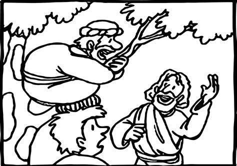 free printable coloring pages zacchaeus zacchaeus cut out coloring coloring pages