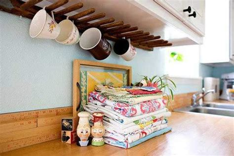 under cabinet mug rack 15 insanely cool diy coffee storage ideas