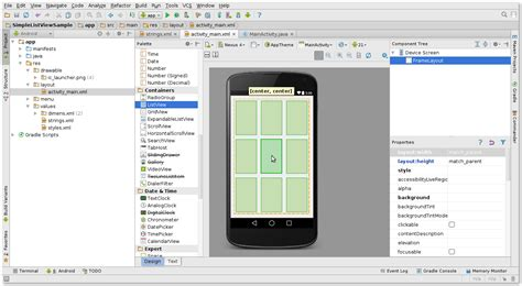 android layout editor xml android listview