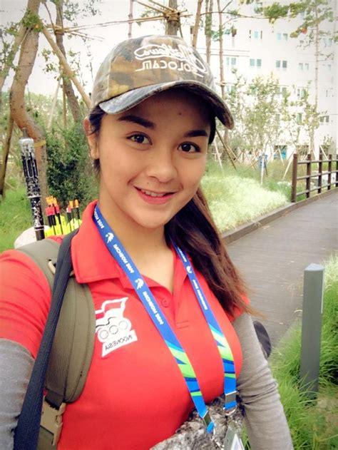 barisan atlet cantik indonesia  asian games  foto
