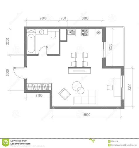draw room dimensions architectural floor plan with dimensions studio apartment