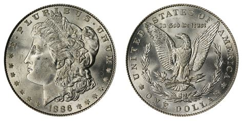 1886 silver dollars value and prices