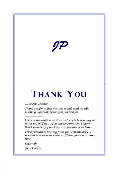 thank you letter to our exle thank you card after letters free