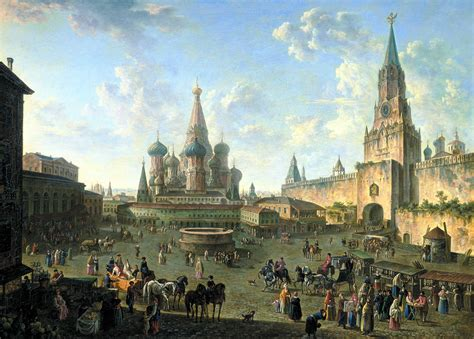 file square in moscow 1801 by fedor alekseev jpg wikimedia commons