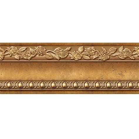Gold Wallpaper Trim | self adhesive antique gold wall moulding print border