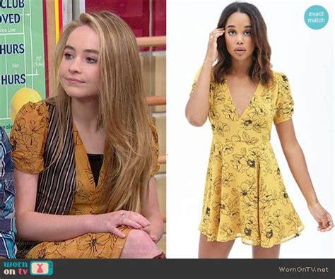 Meya Maxi Mustard maya s yellow floral v neck dress on meets world