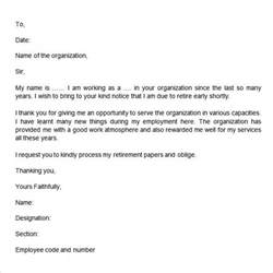 Retirement Resignation Letter by Retirement Letter 17 Free Documents In Pdf Word