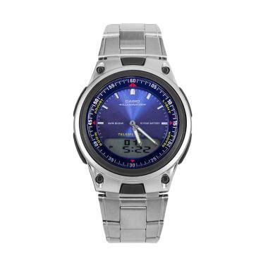 Casio Analog Jam Tangan Wanita Silver Stainles New jual casio stainless steel jam tangan pria aw 80d 2avdf silver blue harga kualitas