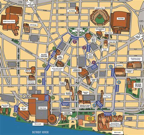 detroit people mover map detroit people mover prt railfan guide