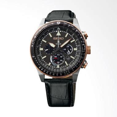 Seiko Prospex Sky Ssc611p1 Solar Chronograph Black Leather jual seiko prospex sky ssc611p1 solar chronograph black
