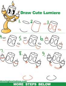 how to draw lumiere cute kawaii chibi from beauty and