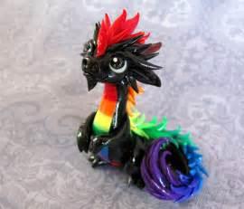 Black rainbow dragons young rainbow oriental dragon