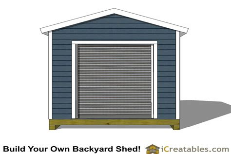 Garage Door Plans by 10x12 Shed Plans With Garage Door Icreatables