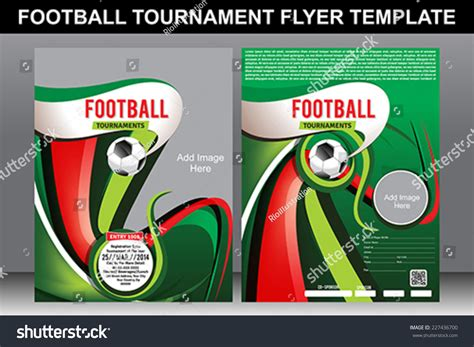 football tournament flyer template football tournament flyer template vector illustration stock vector 227436700