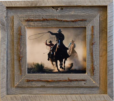 laramie rustic barn wood picture frame quality western