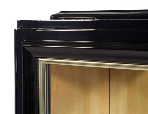 High Gloss Black Cabinets by Black High Gloss Deco Cabinet For Sale At 1stdibs