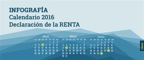 fecha para declaracion de personmas fisica 2016 calendario para declaracion anual de personas fisicas 2016