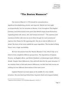 Boston Essay the boston essay draft 3