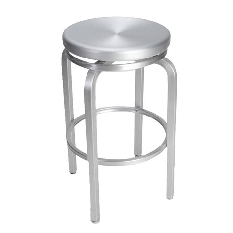 Aluminum Counter Stool Swivel by Paula Brushed Aluminum Swivel Bar Stool Restaurant