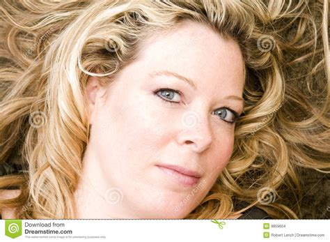 middle age women with blue hair pretty woman portrait blond hair stock images image 9859604