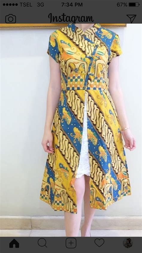 Dress Batik Modern Strech by Best 25 Batik Dress Ideas On Model Dress