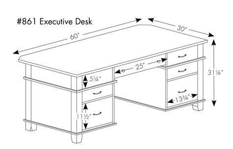 Office Desk Sizes Arlington Executive Desk In Solid Hardwood Ohio Hardwood Furniture