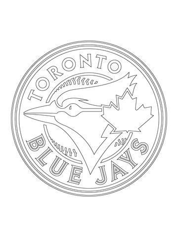 toronto blue jays logo coloring page  mlb category
