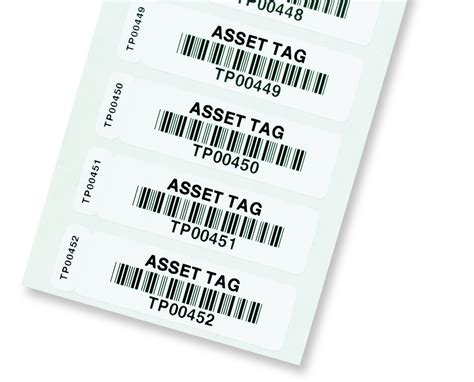 printable asset labels two part bar code labels barcode labels barcode tags
