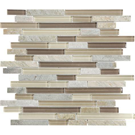 anatolia tile java linear mosaic and glass wall tile shop dune and glass linear mosaic quartz wall tile