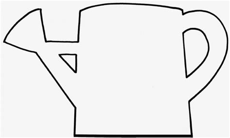Watering Can Coloring Pages For Kids Clipart Best Watering Can Coloring Page