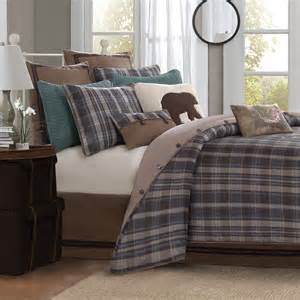 Woolrich hadley plaid 7 piece comforter set designer living