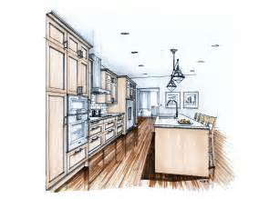 Kitchen Drawings by More Recent Kitchen Renderings Mick Ricereto Interior