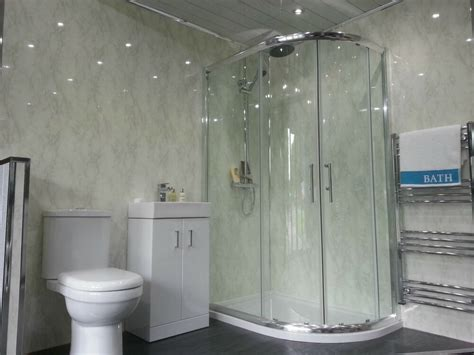 Bathroom Plastic Wall Covering - 5 new white marble wall panels pvc bathroom cladding grey