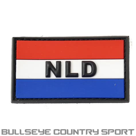 Patch Pacth Rubber Tactical Velcro Airsoft Target pvc rubber moral patch netherlands flag white blue